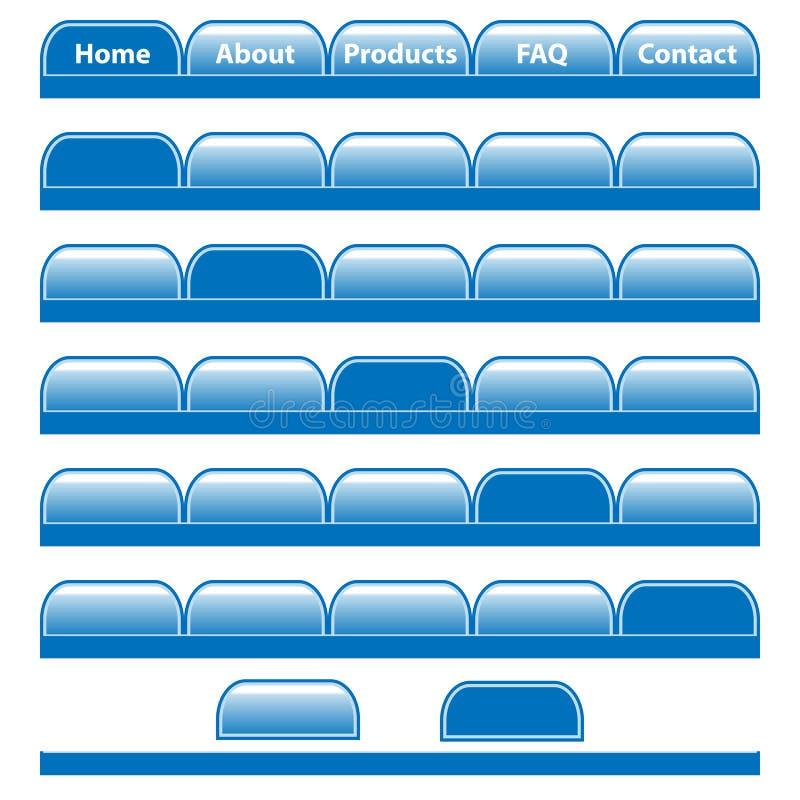 Web-Tastennavigationsstäbe stellten ein stock abbildung