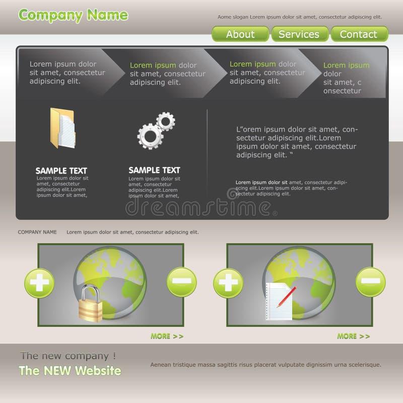 Web Template Stock Image
