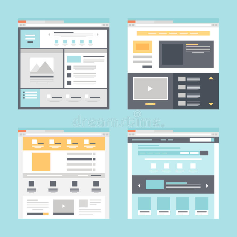 Web template royalty free illustration