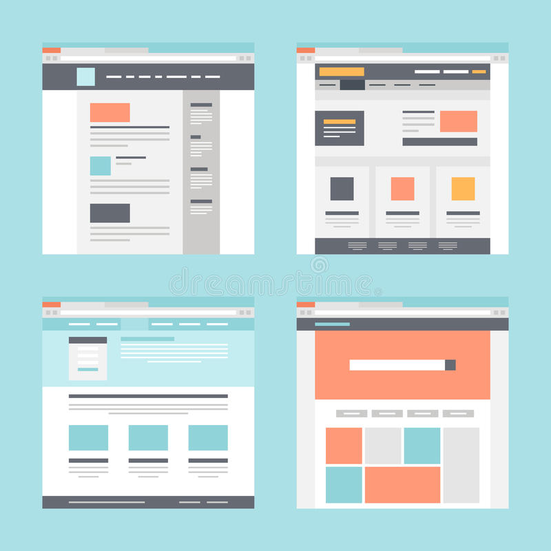 Web template stock illustration