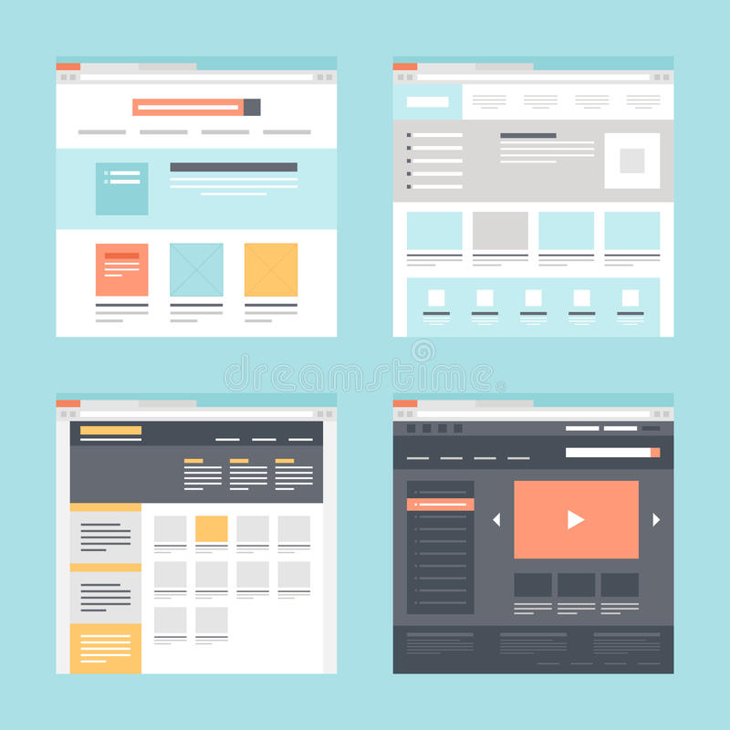 Web template vector illustration