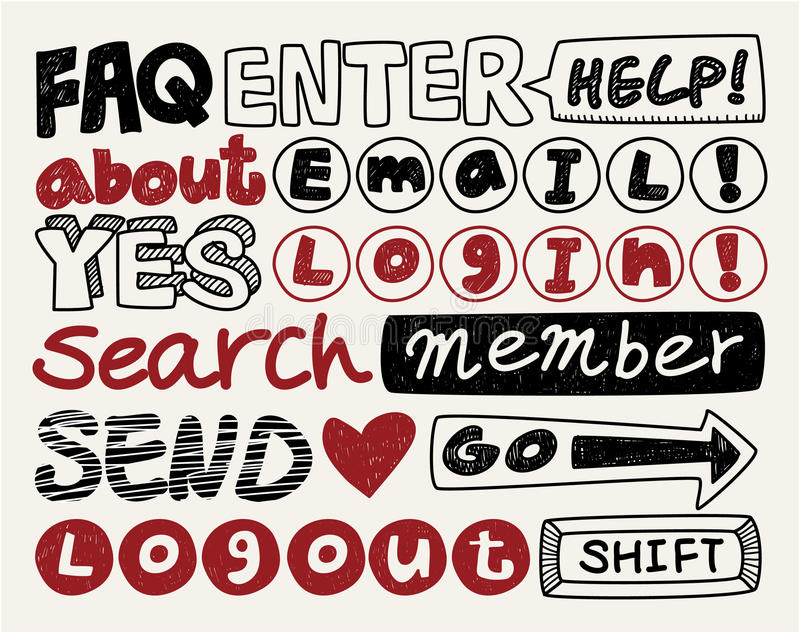 Download Web Text Element Collection ,icon Set Stock Photography - Image: 20298512