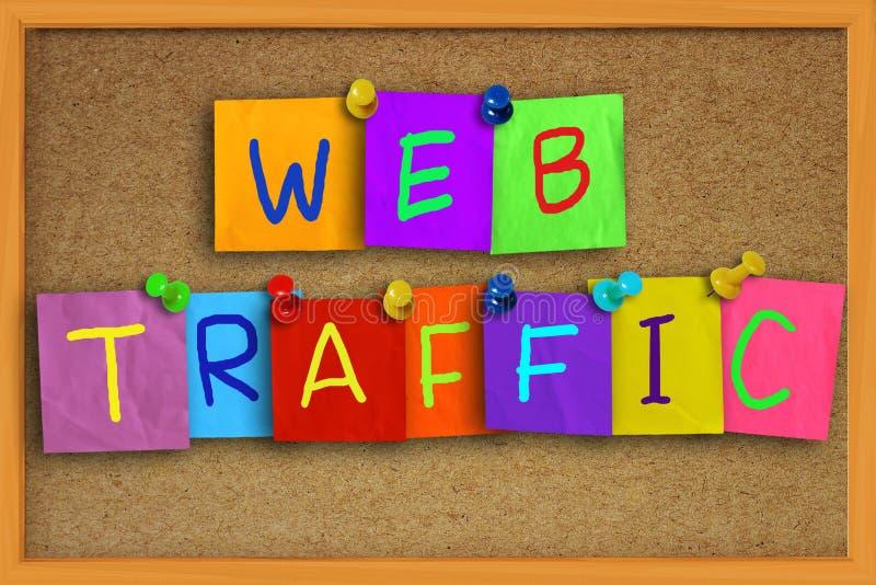 Web Traffic Internet Concept royalty free stock image