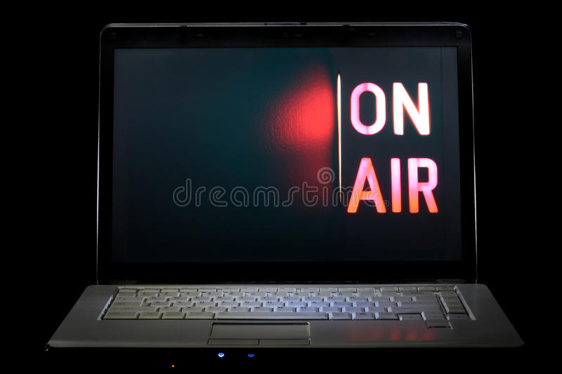 Web TV Streaming stock images