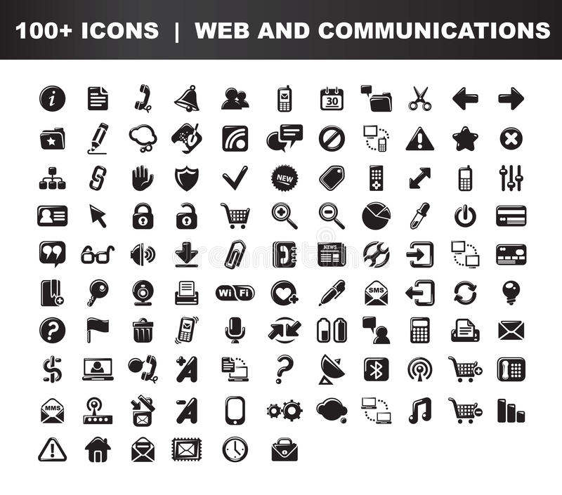Web- u. Kommunikationsikonen lizenzfreie abbildung