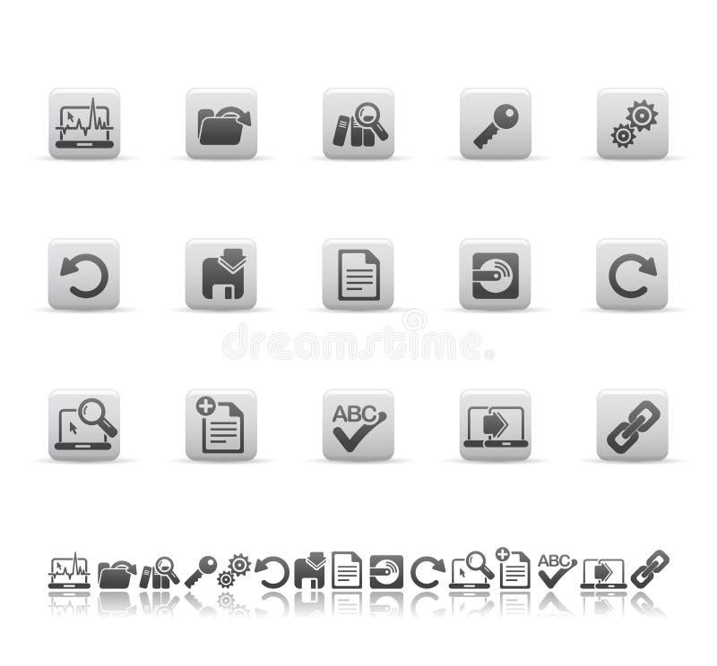 Web- und Büroikonen lizenzfreie abbildung