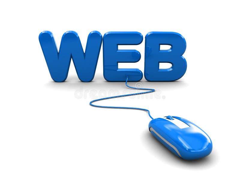 Web und Computermaus lizenzfreie abbildung