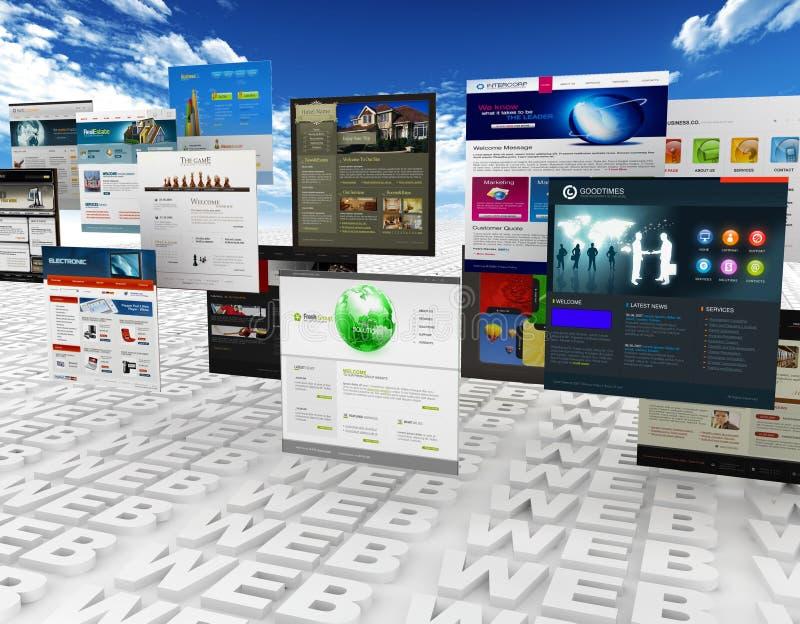 Web und Schablonen lizenzfreie abbildung