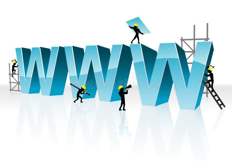 Web Underconstruction. Conceptual illustration of website currently work in progress vector illustration