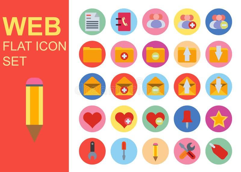 Web universal flat business icons set vector illustration design. General symbol application royalty free illustration