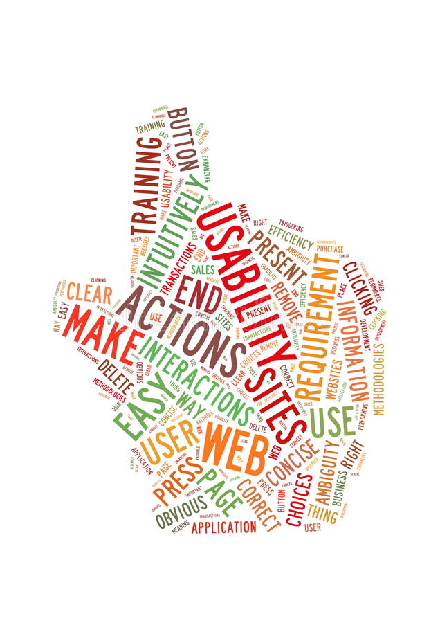 Download Web Usability Word Cloud Hand Shape Stock Illustration - Image: 23856932