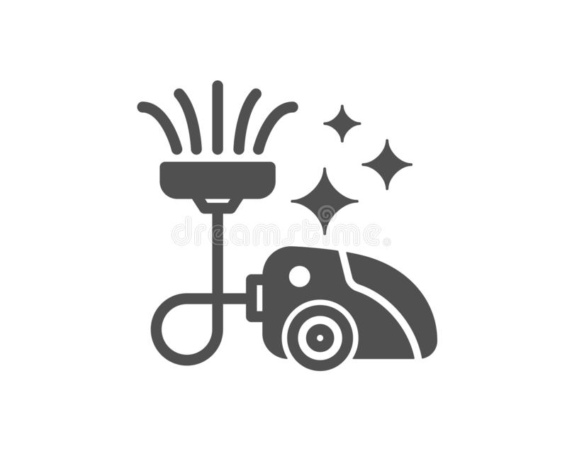 Web. Vacuum cleaner icon. Cleaning service symbol. Hoover sign. Quality design element. Classic style icon. Vector stock illustration