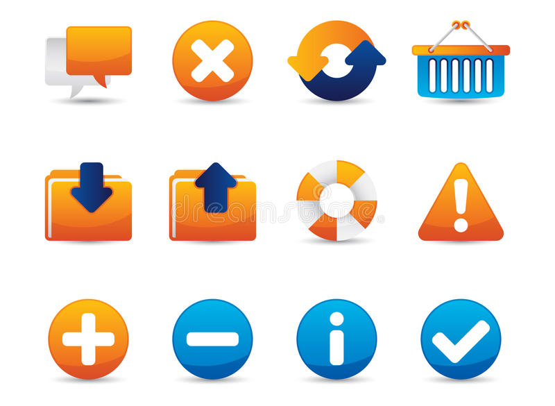 Web Vector Icons stock illustration