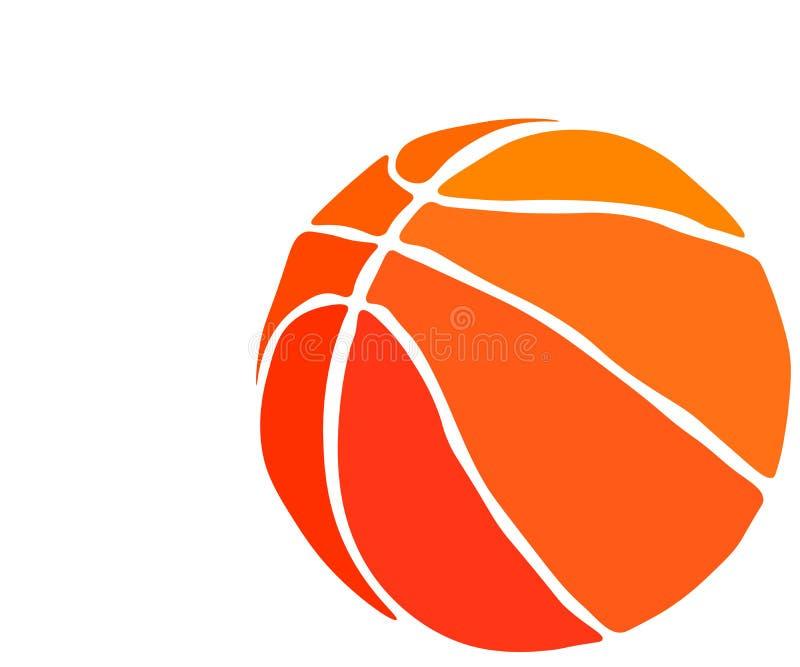 Web VectordieBasketbal op een witte achtergrond wordt geïsoleerd vector illustratie