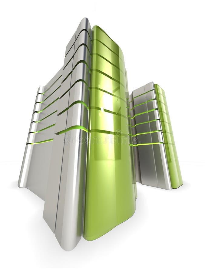Web vert de serveurs illustration de vecteur