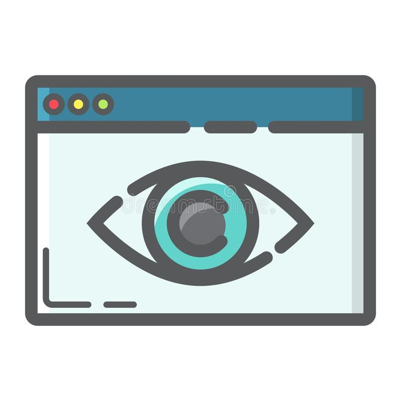 Web Visibility filled outline icon, seo royalty free illustration