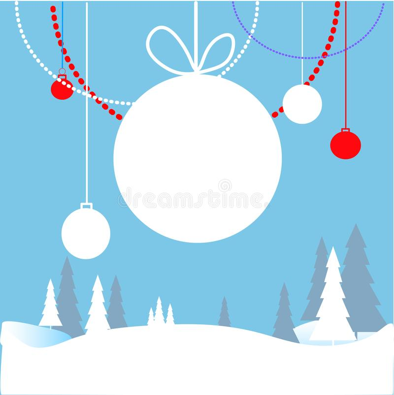 web Vrolijke en Heldere Kerstmis, Gelukkige Vakantie, de Gelukkige kaarten van de Nieuwjaargroet stock illustratie
