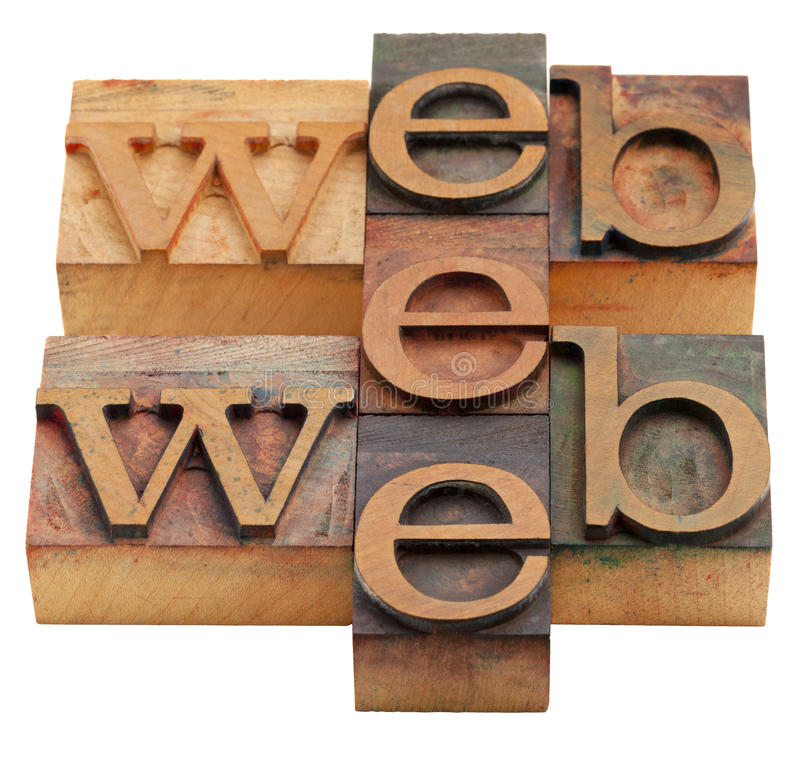 Web Word Abstract Royalty Free Stock Images