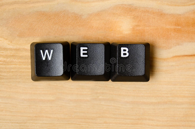 Web word. With keyboard buttons royalty free stock photography