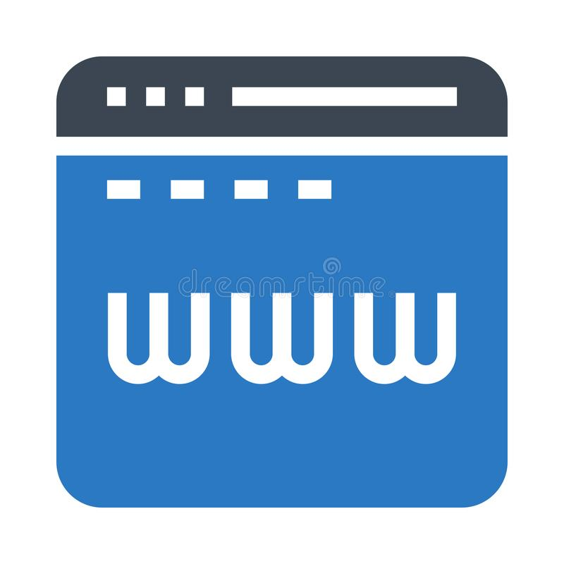 Web www glyphs double color icon vector illustration