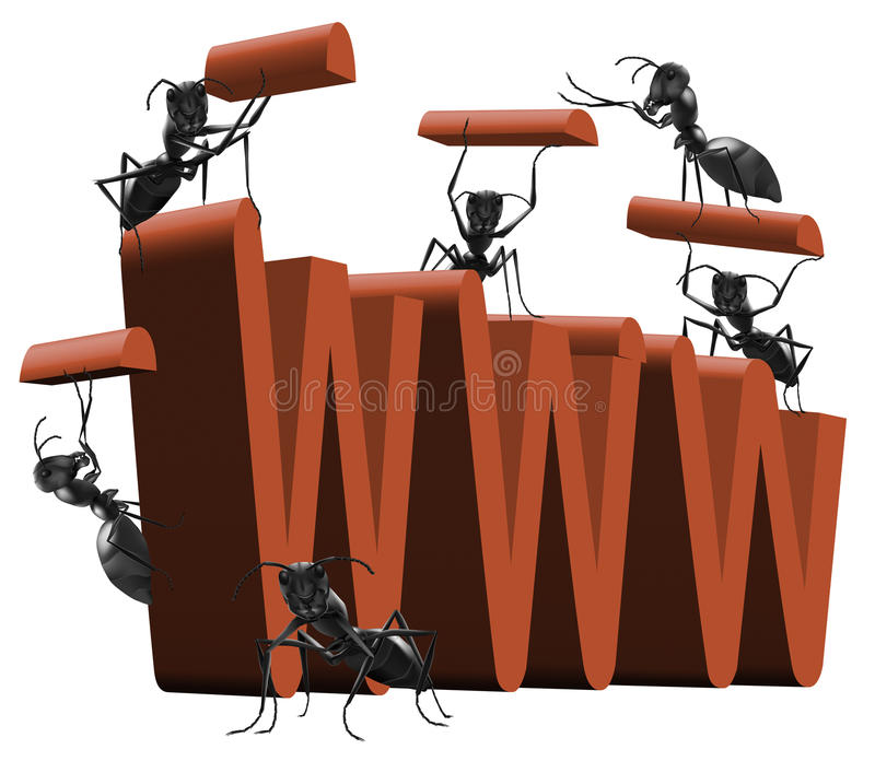 Download Web Www Under Construction Building Website Stock Illustration - Illustration: 15009734