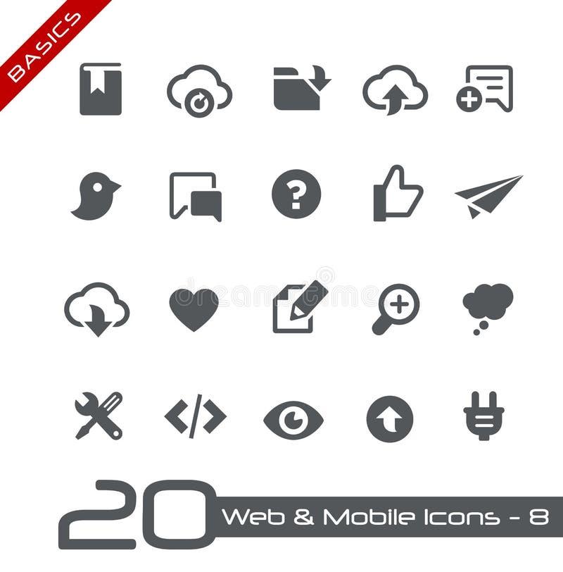 Web y fundamentos móviles de Icons-8 // stock de ilustración