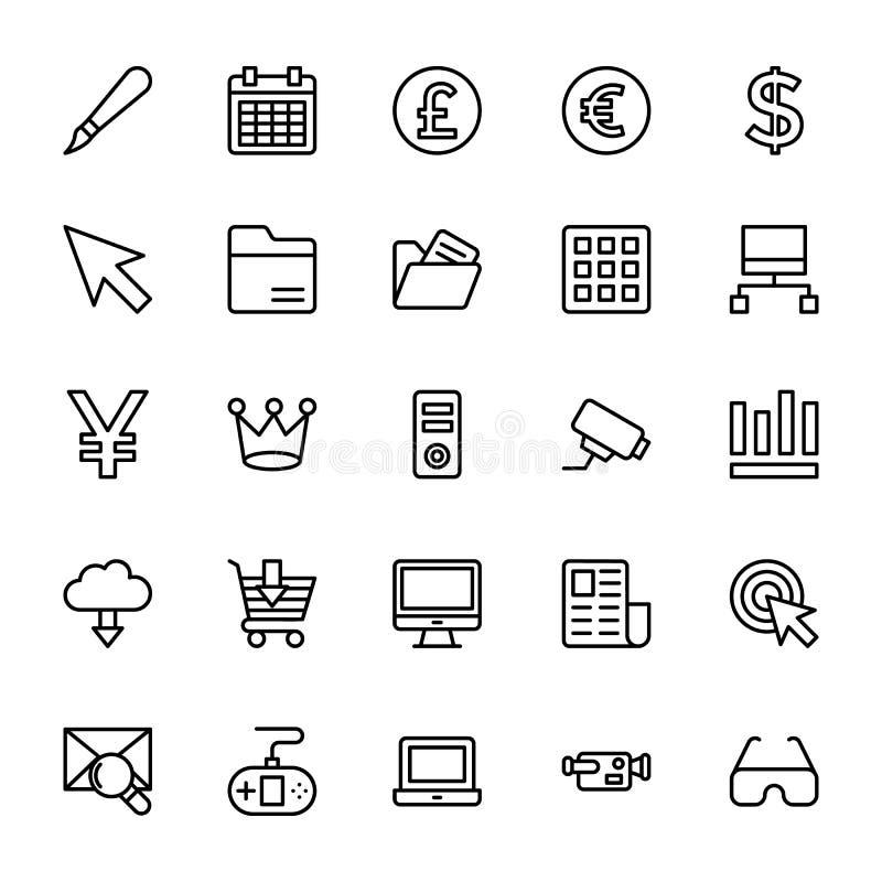 Web y línea móvil iconos 14 de UI del vector stock de ilustración