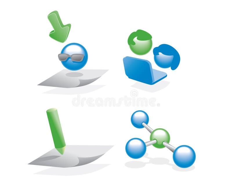 Web2.0 pictogrammen stock illustratie