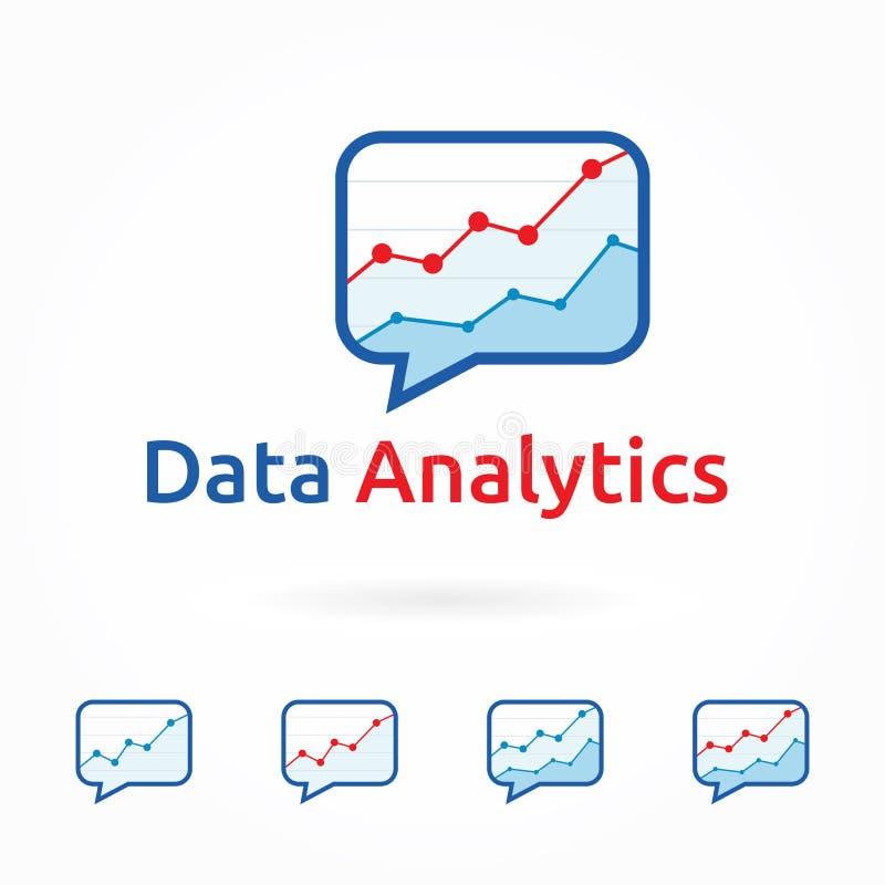Webanalytics, bedrijfs marketing embleemmalplaatje royalty-vrije illustratie