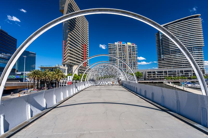 Webb bridge in Docklands, Melbourne royalty free stock photography