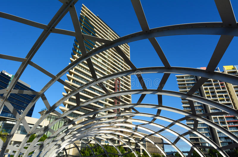 Download Webb Bridge - Melbourne stock image. Image of pedestrian - 40061517
