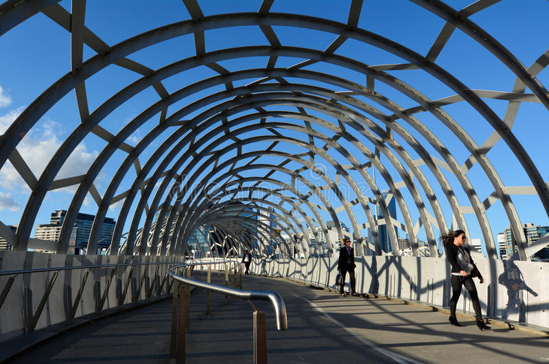 Download Webb Bridge - Melbourne editorial stock image. Image of architecture - 40061474