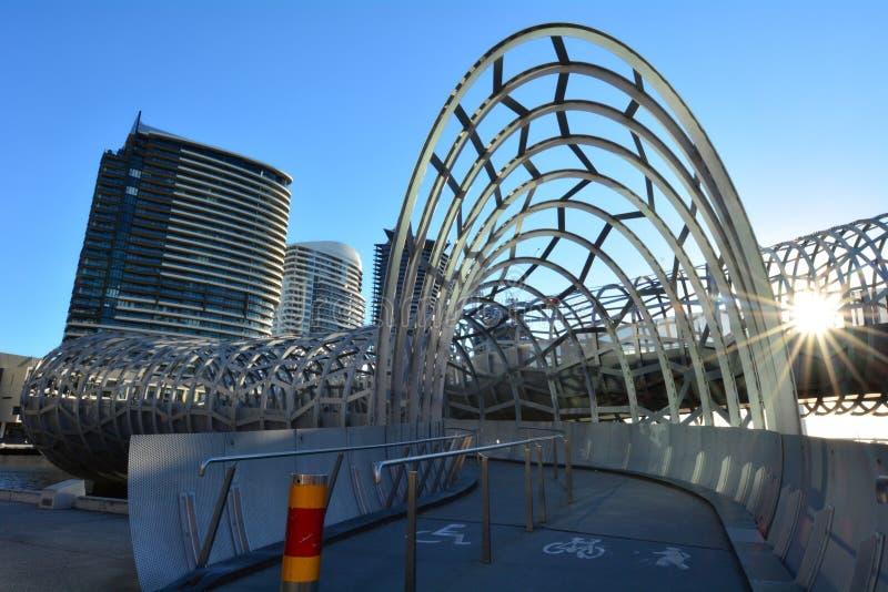Webb Bridge - Melbourne royalty free stock photo