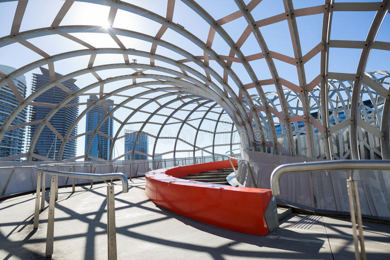 Webb Bridge in Melbourne stock photos