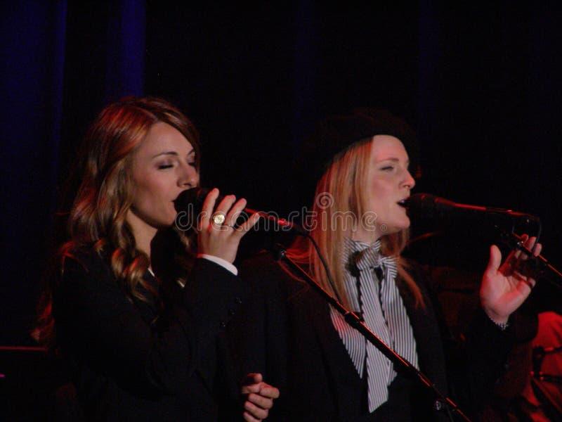 Webb Sisters backing Leonard Cohen, Florence 2010 stock photography