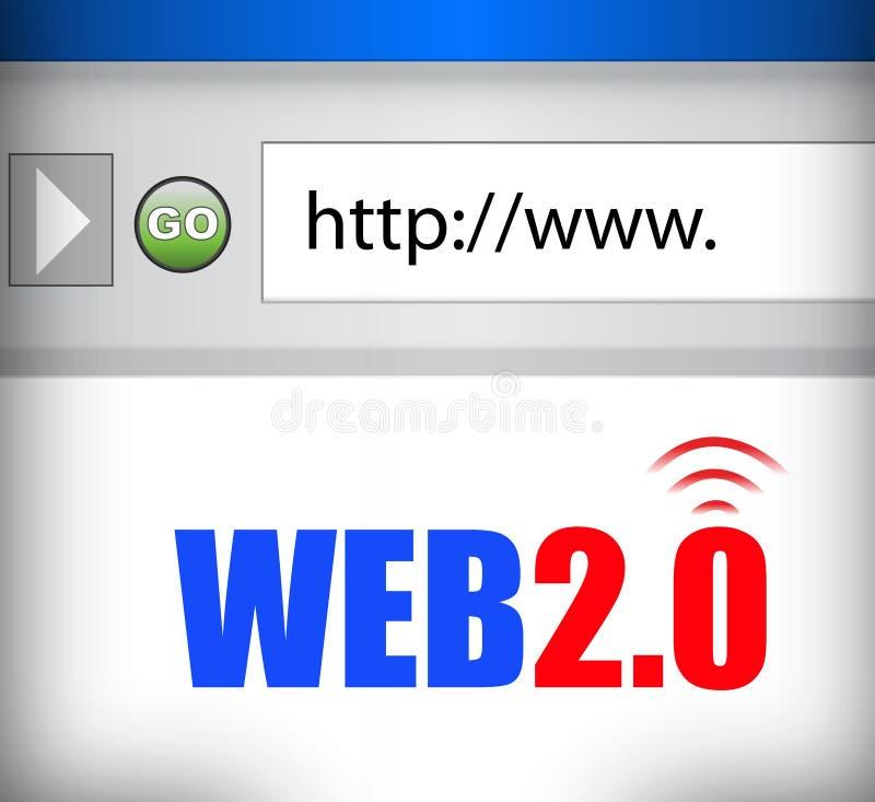 Webbläsare för internetrengöringsduk 2,0 stock illustrationer
