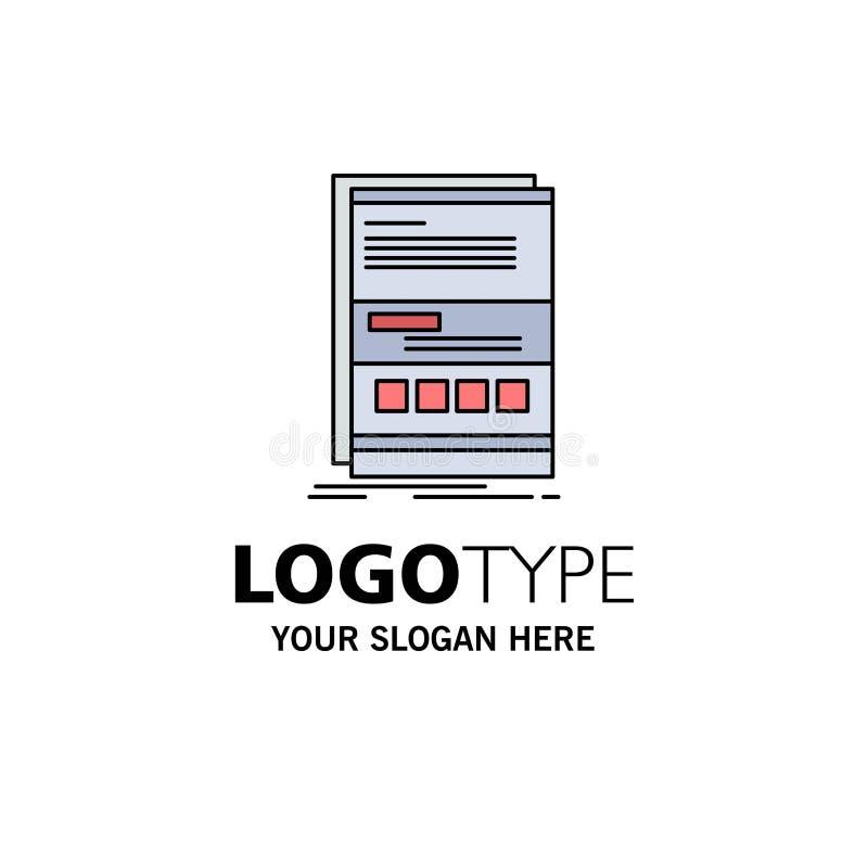 Webbläsare som är dynamisk, internet, sida, svars- plan färgsymbolsvektor vektor illustrationer