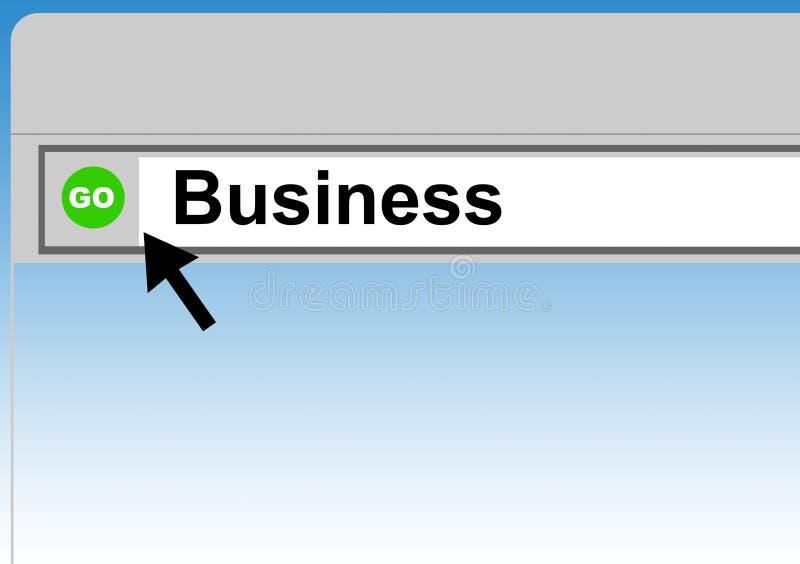 webbläsareaffärsrengöringsduk stock illustrationer
