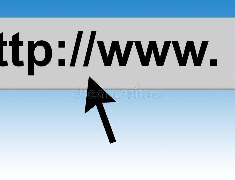 webbläsaremarkörinternet stock illustrationer