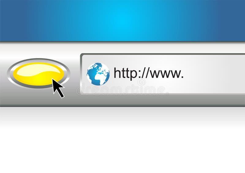 webbläsarerengöringsduk royaltyfri illustrationer