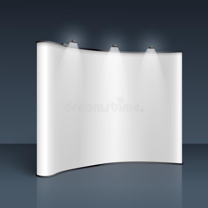 WebBlank estala acima o modelo da bandeira - exposição vazia branca para anunciar o projeto do cartaz ilustração do vetor