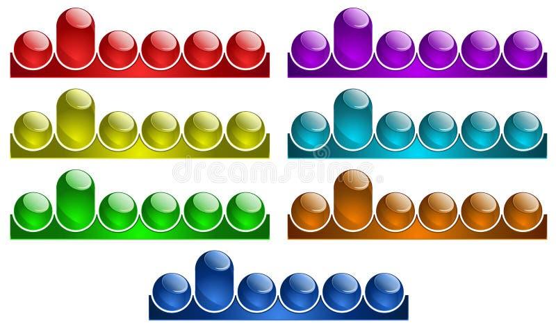 Webbplatsmeny stock illustrationer