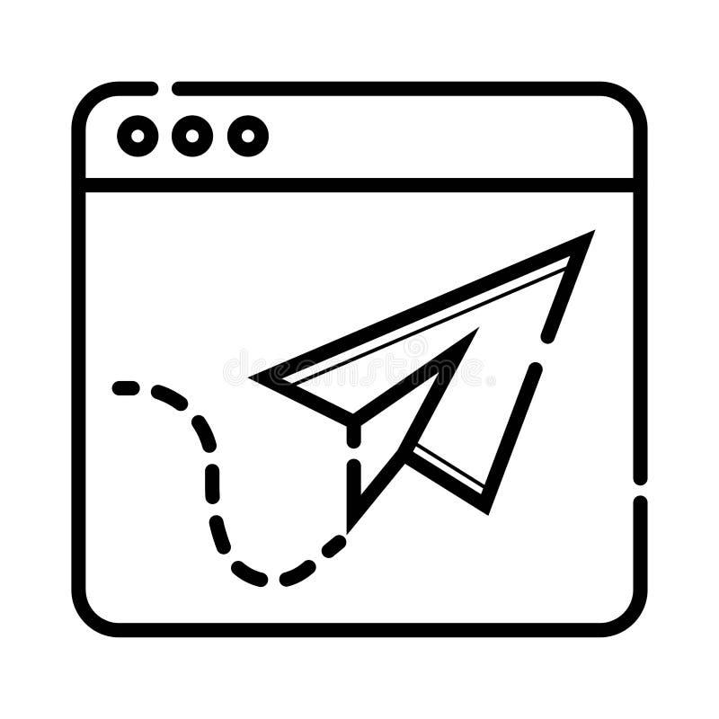 Webbrowser Conceptenpictogram vector illustratie