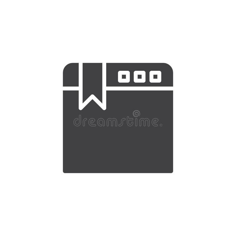 Webbrowser referentie vectorpictogram royalty-vrije illustratie