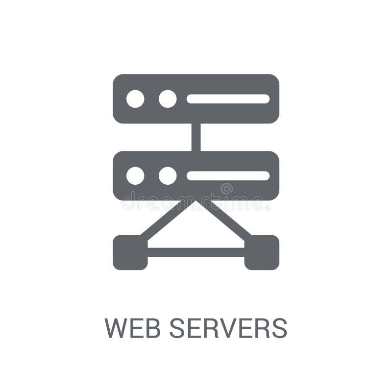 Webbserversymbol  royaltyfri illustrationer