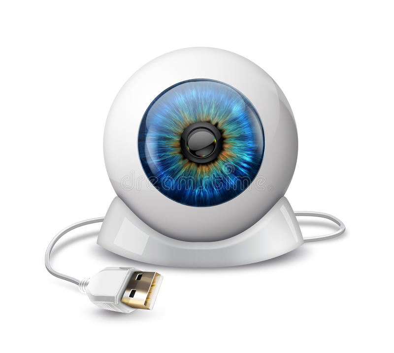 Webcam lizenzfreie abbildung