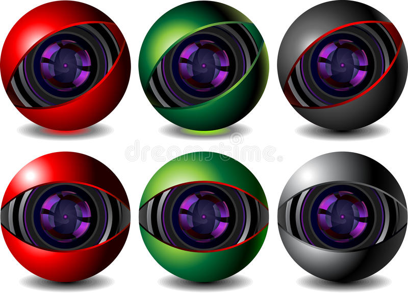 webcam royaltyfri illustrationer