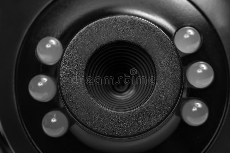 Webcam close up panorama stock photography