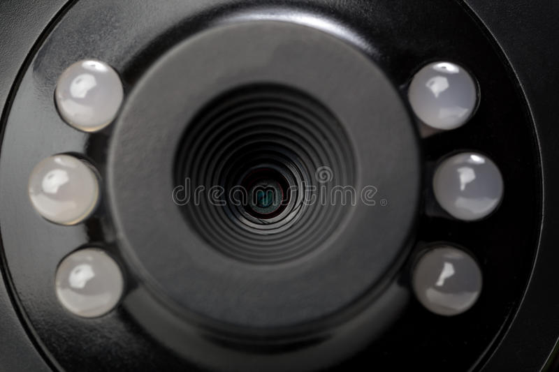 Webcam close up panorama royalty free stock photo