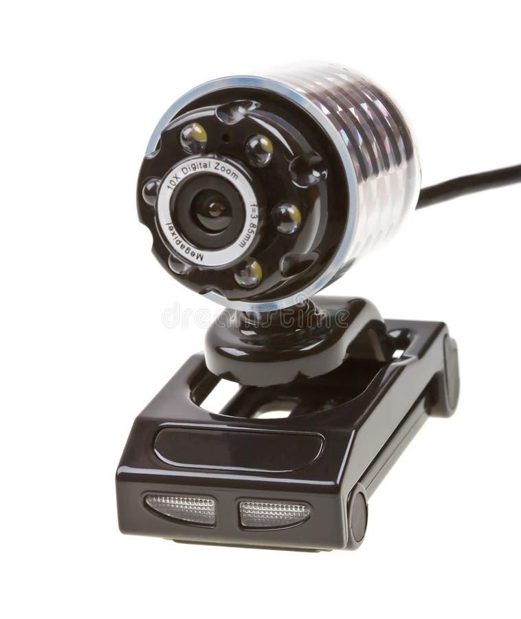 Webcam d'isolement sur le blanc image stock